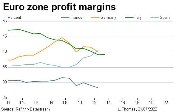 Euro zone profit margins