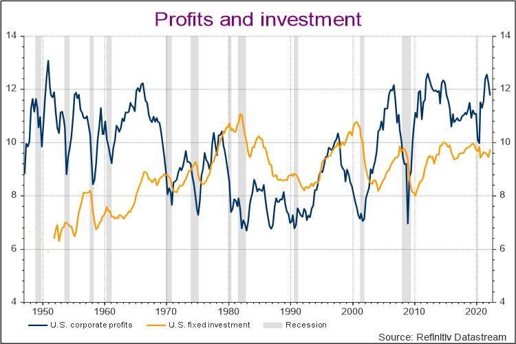 U.S. corporate profits and fixed investment