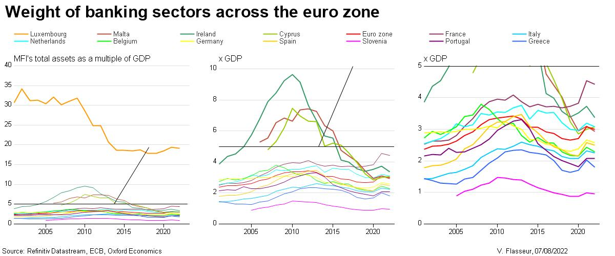 Euro zone banking sector weight
