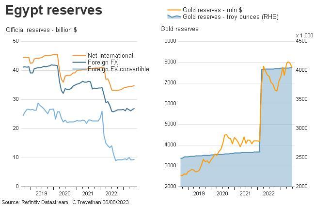 Egypt reserves